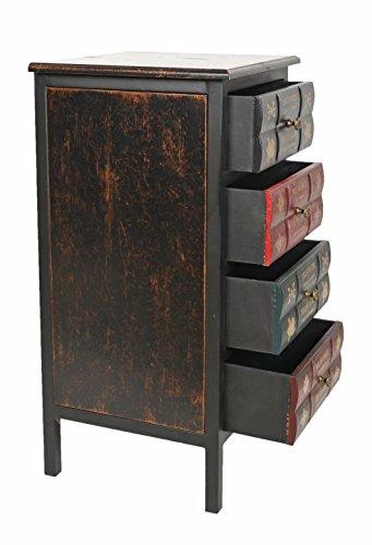 Ts Ideen Kommode Schrank Vintage Antik Buch Design Standregal
