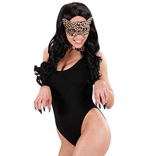 Leopard Kostüm Kitty - NET TOYS Leoparden Maske Katzen Augenmaske Sexy Katzenmaske Leo Tiermaske Kitty Faschingsmaske Raubtier Kostüm Zubehör