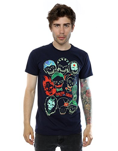 Suicide Squad Homme Band Of Skulls T-Shirt X-Large Foncé