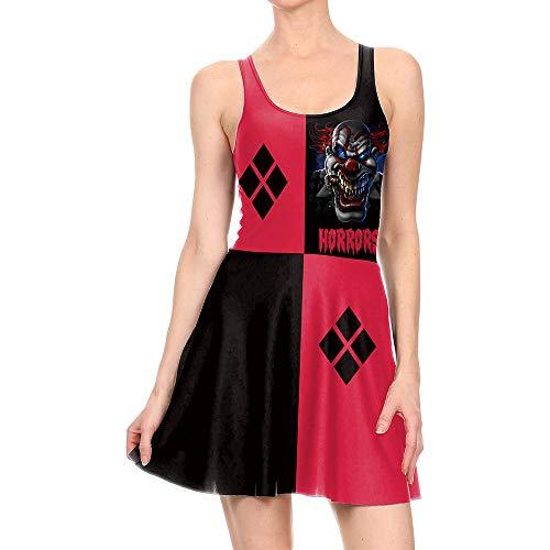 ZGCP Halloween Kostüm Print Kleid Stage Joker Cosplay Kleid WTLY1009 L (Öffnen Gehirn Kostüm)