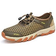 YY Hombres Exterior Zapatos De Senderismo Antideslizante Secado Rápido Malla Zapatos De Cala Deportes