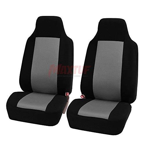 Einzelsitzbezug MAXTUF 2pcs Vordersitzbezug für Autositz mit Seitenairbag Auto Vordere Sitzbezug Autositzbezug Universal Fahrersitz Beifahrersitz Sitzbezug