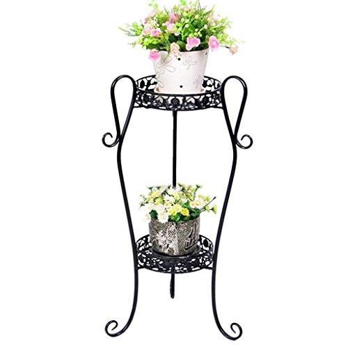 WSSF- Supports de pots Européenne Fleur de fer Présentoir Plancher Multi-couche Fleur Pot Rack Intérieur Balcon Vert Plantes Fleur Taille de l'étagère En Option (taille : 35*75cm)