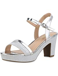 sandaletten silber blockabsatz
