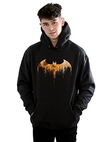 DC Comics Hombre Batman Arkham Knight Halloween Moon Logo Fill Capucha Large Negro