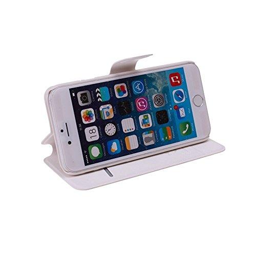 Paracity Étui portefeuille plat en similicuir, Cuir synthétique, Champagne Pink, iPhone 5C blanc