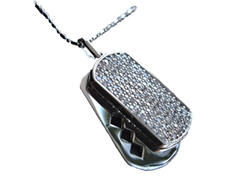 Sterling Silver Men's Pendant - Double ID Pendant with Chain- Elegant Gift for Men