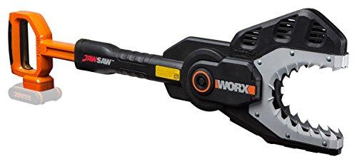 WORX WG329E.9 Kettensäge Jawsaw für sicheres Sägen von Ästen - auf dem Boden oder hoch gelegen/Astsäge mit umschlossener Kette, Stahlzähnen & Kettenschutz/Ohne Akku & - Ast-säge