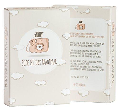 Die Karten Tisch Dem Auf (Hochzeitsspiel: Selfie ist das Brautpaar – Box mit kreativen und lustigen Fotoaufgaben – Tolles Spiel für Gäste oder Geschenkidee für das Brautpaar – Eisbrecher für die Hochzeit)