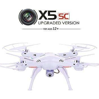 Original Syma X5SC 2.4 G 4CH 6 Axes Gyro RC Quadcopter RTF Drone avec HD 2.0mp Caméra Jetant Mode Avion sans Tête et Eversion 3D