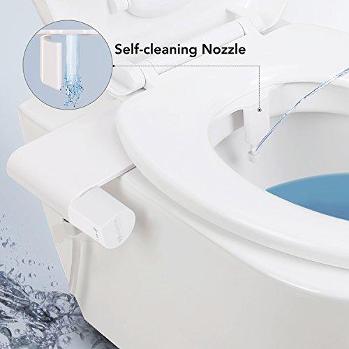 MARNUR Bidet Toilettenaufsatz mit Frischwasserspray und Selbstreinigender Düse und Hygienisch Schutzgitter Nicht elektromechanisch einfache Bedienung zur Desinfizierung des Untens