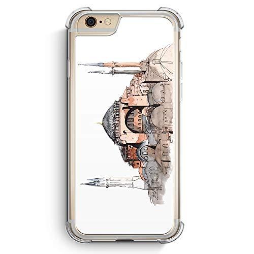 Hagia Sophia Ayasofya Istanbul Türkei - Silikon Bumper Hülle kompatibel mit iPhone 6 6s Transparent Rundumschutz Cover - Motiv Design Türkiye Cami is