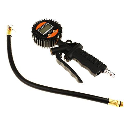 Sharplace Digital Reifendruckprüfer Auto Lkw LCD Dial Meter Reifen Luftpumpe Tester Multifunktion