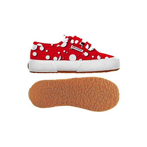 Superga 2750-FANTASY COVJ S001W80 Unisex - Kinder Sneaker Big Pois Red-White