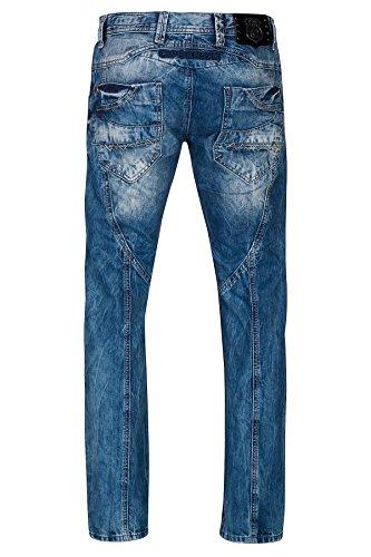 Cipo & Baxx Herren Jeans / Straight Fit Jeans Leon Blau