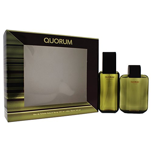 PUIG Quorum Giftset EDT 100ml Spray und Aftershave 100ml, 1er Pack (1 x 200 ml)