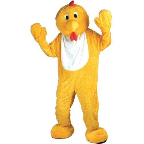 Yellow Giant Body Chicken Mascot Mens Fancy Dress -