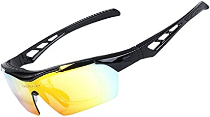 Ocamo Outdoor Polarized Sports Sunglasses Windproof Cycling Baseball Running Glasses Unisex