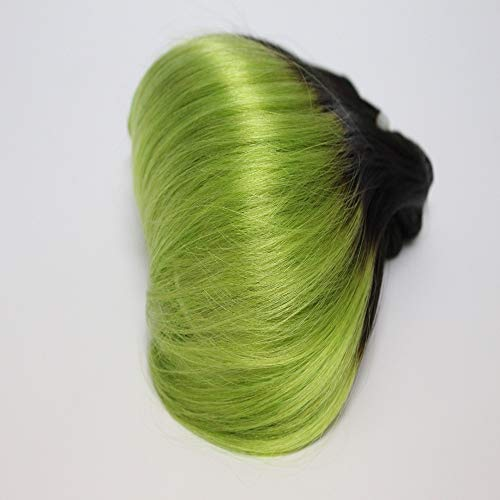 Zonghao Ombre Grün Brasilianische Körperwelle Menschenhaar Bundles Remy Haareinschlagfaden 100g 8 zoll Short Body Binding Frisuren Nähen in Haarverlängerungen 4 Teile/paket (# 1B / Grün) (Nähen Remy-haar-erweiterungen)