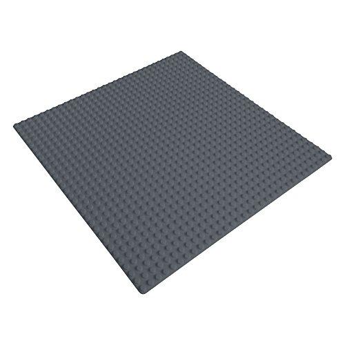 Preisvergleich Produktbild Katara 1672 - Platte 25,5cm x 25,5cm / 32x32 Pins; Große Grund- Bauplatte für Lego, Sluban, Papimax, Q-Bricks, MY, Wilko Blox, Lego Duplo kompatibel; Grund-Platte; Dunkel-Grau für Straße, Boden, Grund