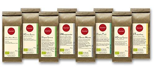 Tee Geschenkset Probierset Biotee Quertee® Nr. 1 - 8 x 25g Bio Tee - Tee Geschenk (Bio-lebensmittel-körbe, Geschenke)