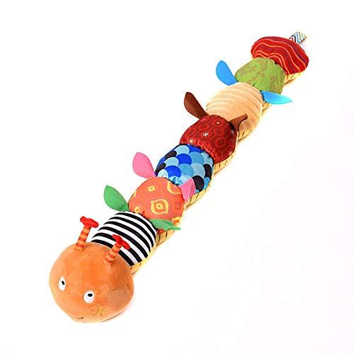 SICL-F Juguete Musical, Juguete de Caterpillar multifunción, sonajero de música Integrado, muñeca de Felpa de Animales de Dibujos Animados, Regla de Altura, Juguetes elásticos para niños y niñas