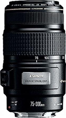 Canon 4,0 - 5, 6 75 - 300MM EF IS USM Objektiv (Objektiv 300 Canon)