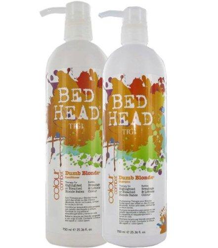 TIGI Bed Head Colour Combats Dumb Blonde Shampoo and Conditioner Duo 2 x 750ml -