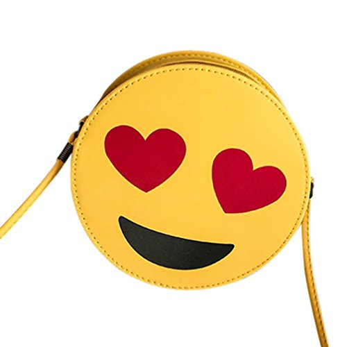 Gesteppte Clutch Wallet (SüßE MäDchen Tasche, Huihong Kind Niedlich Emoji Emoticon UmhäNgetasche Shopper Tasche Handtasche Schultertasche Kind Tasche Tote (Cute-C))