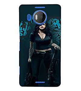PrintVisa Fighter Hot & Sexy Girl 3D Hard Polycarbonate Designer Back Case Cover for Nokia Lumia 950 XL