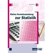 Kleine Formelsammlung zur Statistik