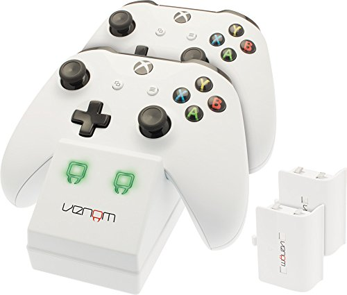 Price comparison product image Venom Twin Docking Station with 2 x Rechargeable Battery Packs: White (Xbox One)