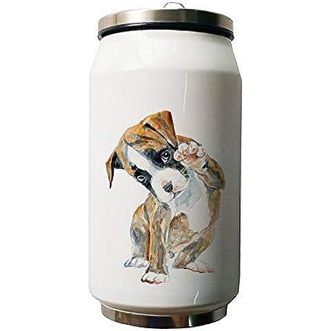 okoukiu Cute cane animale Design doppio isolamento a vuoto in acciaio inox bottiglia d' acqua, 280ml
