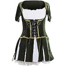 Costume da Robin Hood, firmato Emma's Wardrbobe – Include Abito verde, Cappello con piuma – Costume Robin Hood, Costume Peter Pan, Costume Elfo, per Halloween o addii al nubilato – Taglie EUR 40