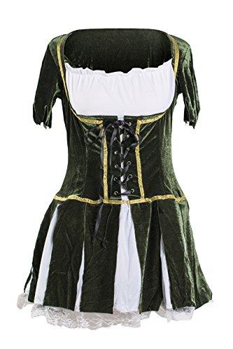 Schickes Robin Hood Kleid Kostüm von Emma's Wardrobe – Beinhaltet grünes Kleid und Hut mit künstlicher Feder – Robin Hood Kostüm oder Peter Pan Kostüm für Halloween oder Junggesellinnenabschiede – ()