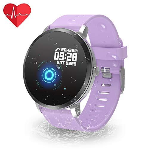 YoYoFit Fitness Tracker, IP67 Wasserdicht mit GPS Schrittzähler Uhr Herzfrequenz mit Pulsmesser Blutdruck Blutsauerstoff Armband Wetter Musik Steuerung Stoppuhr für Damen Herren
