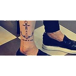 Adhesivo de tatuaje temporal para arte corporal ancla Pegatina Tatuaje