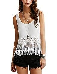 Laixing Buena Calidad Women Ladies Chiffon Tassel Swing Vest Top Summer Holidays FWY10243#