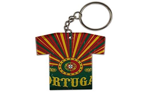 LEotiE SINCE 2004 Schlüsselanhänger Urlaub Reisebüro Portugal Trikot bedruckt