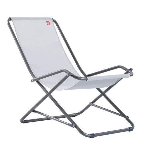 Fiam sedia a dondolo sdraio dondolina da giardino balcone terrazzo spiaggia piscina in alluminio colore grigio - made in italy