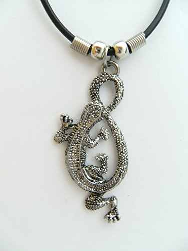 Kette Eidechse Modeschmuck Anhänger Echse Gecko Tier Tiere