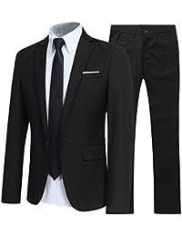 3338a8a0c91a7 Allthemen Mens Suits 2 Piece Suit Slim Fit Wedding Dinner Tuxedo Suits for  Men Business Casual