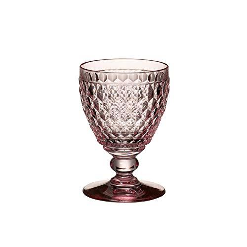 Villeroy & Boch Boston Coloured Verre à vin blanc Rose, 230 ml, Cristal, Rose