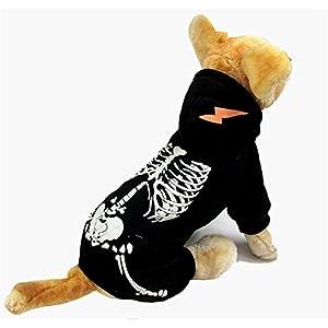 ULA-ULA Halloween Creative Squelette fantôme décors de fête drôle de costume pour chien