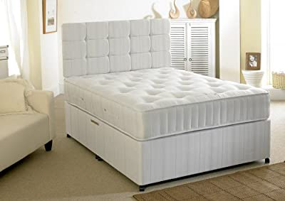 Happy Beds Ortho Extra Firm Divan Bed Set With Orthopaedic Mattress No Drawers Headboard - low-cost UK light shop.