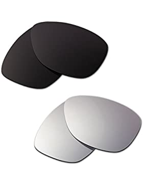 Hkuco Plus Mens Replacement Lenses For Oakley Jupiter Black/Titanium Sunglasses