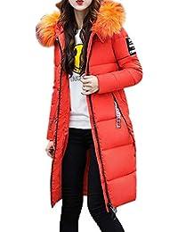 Betrothales Daunenmantel Damen Herbst Winter Warme Polsterung Lange Outwear  Kapuzenmantel Aufdruck Oversize Langarm Oversize Reißverschluss Steppmantel 3f35f52789