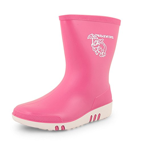 Girls Boys Wellington Boots Wellies Kids Infants Dunlop Snow RAIN Shoes Short