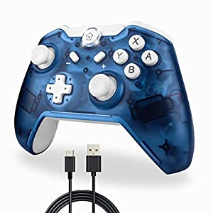 TechKen Wireless Switch Pro Controller, Bluetooth Switch Controller Kabellos Ersatz Gamepad Gaming Joystick Dual Shock Vibration Controller Game Zubehör für Switch Console