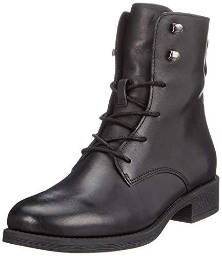 Bianco Damen Clean Laced Up Boot Hohe Stiefel, Schwarz (Black 100), 41 EU